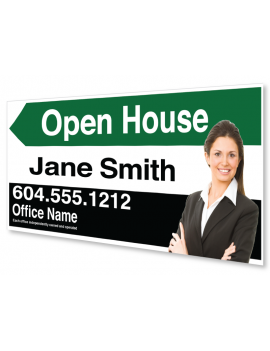 4MM CORO OPEN HOUSE SIGN 24x12